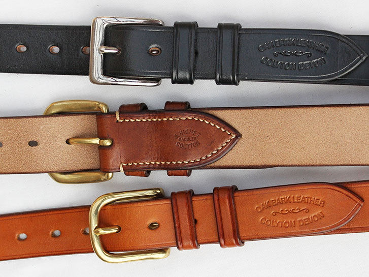 Bridle handmade leather belts by Jasper Highet