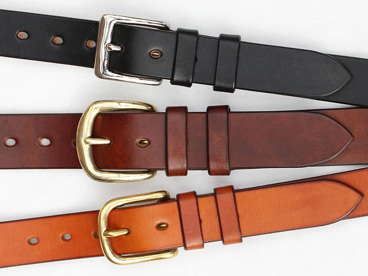 Classic handmade leather belts by Jasper Highet
