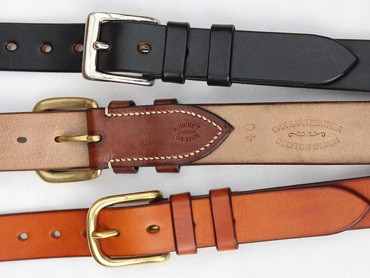 Classic handmade leather belts by Jasper Highet