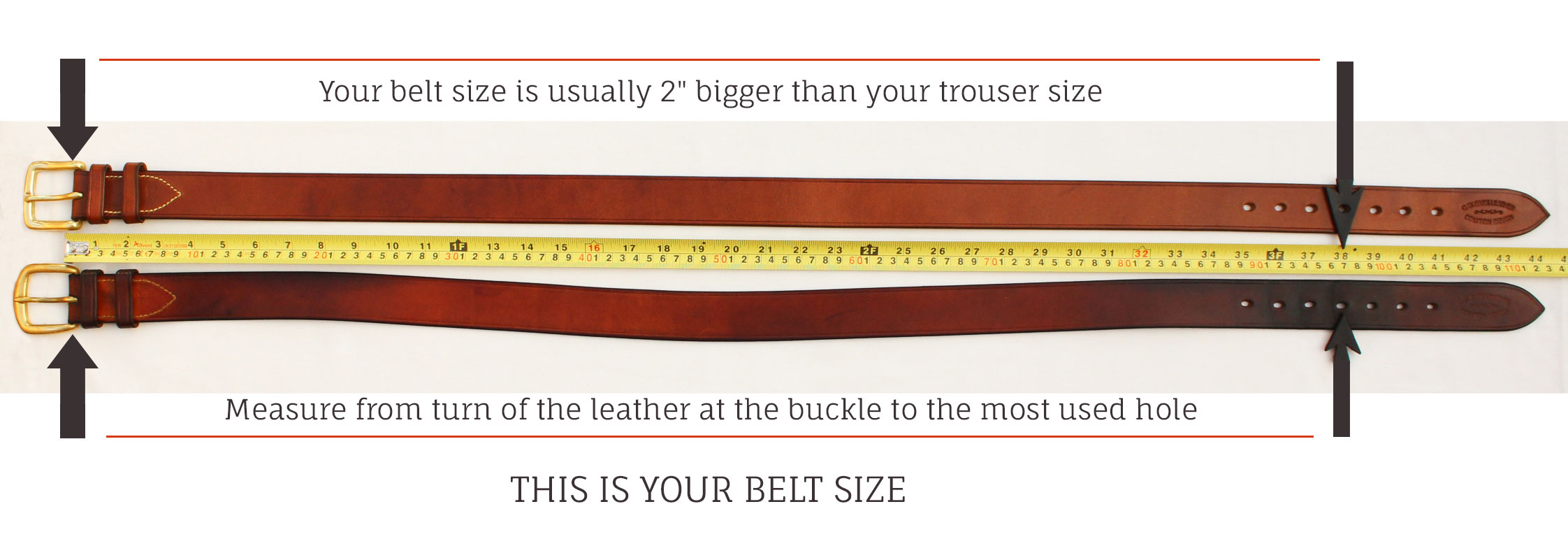 how to measure your leather belt