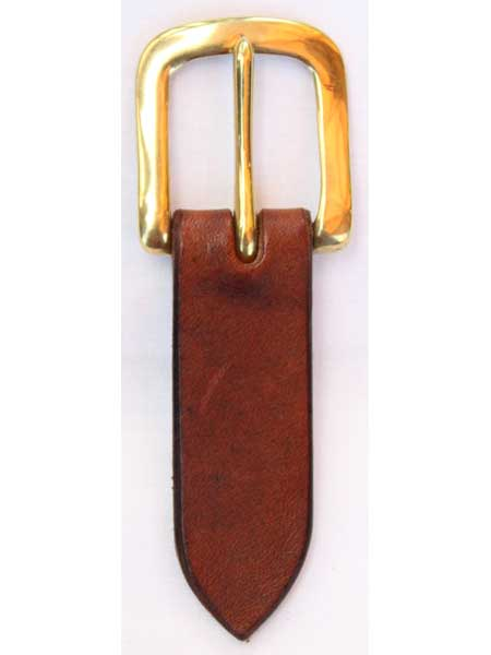 Brass Flat Buckle for 1 inch handmade leather belt
