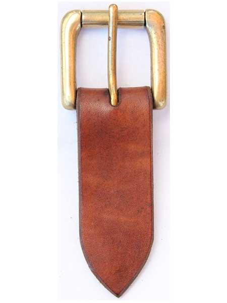 "Brass Heavy Roller Buckle for 1¼"" inch handmade leather belt"