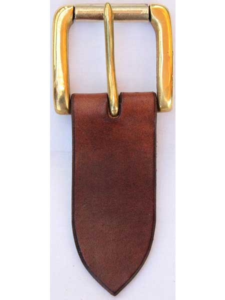 "Brass Heavy Roller Buckle for 1½"" inch handmade leather belt"