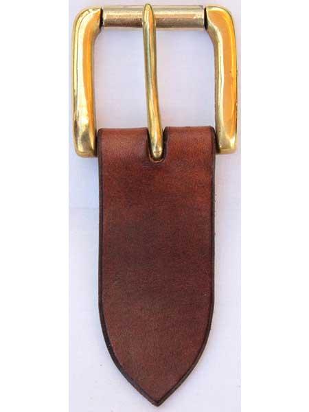 "Brass Heavy Roller Buckle for 1½"" inch handmade leather belt"