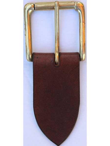 "Brass Heavy Roller Buckle for 2"" inch handmade leather belt"