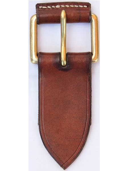 "Brass Leather Roller Two Pins Buckle for 1¾"" inch handmade leather belt"