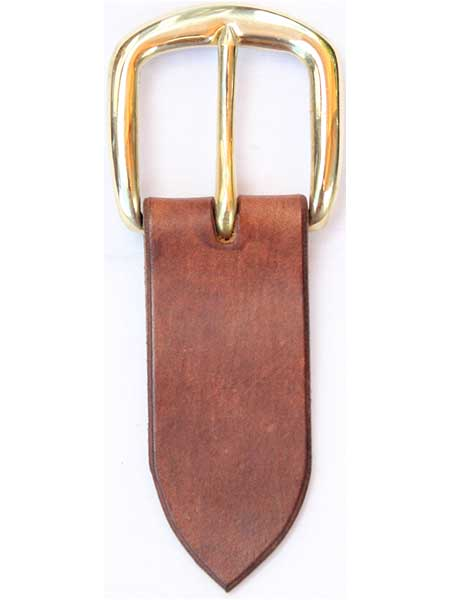 "Brass Round Buckle for 1½"" inch handmade leather belt"