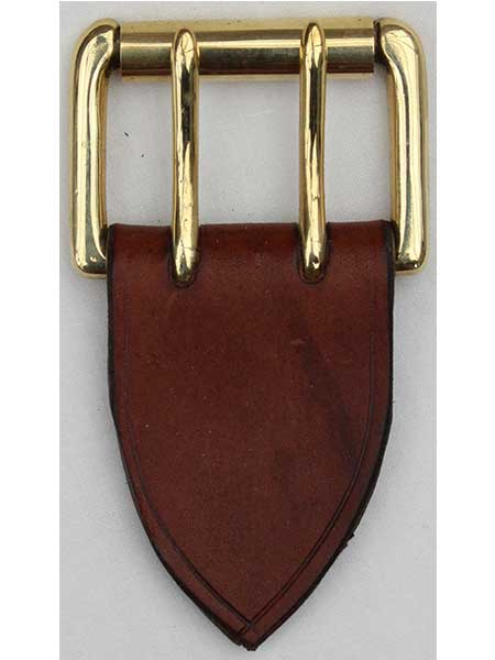 "Brass Standard Roller Two Pins Buckle for 1¾"" inch handmade leather belt"