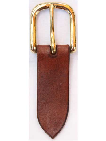 """Brass West End Buckle for 1¼"""" inch handmade leather belt"""