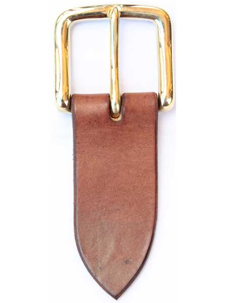 "Brass West End Buckle for 1½"" inch handmade leather belt"