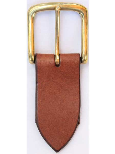 "Brass West End Buckle for 1¾"" inch handmade leather belt"