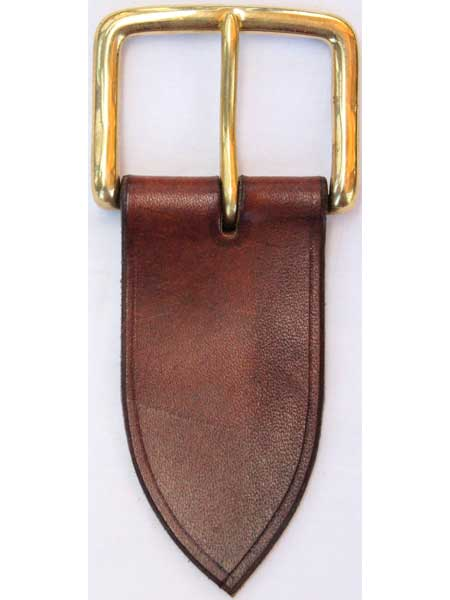 "Brass West End Short Buckle for 2"" inch handmade leather belt"
