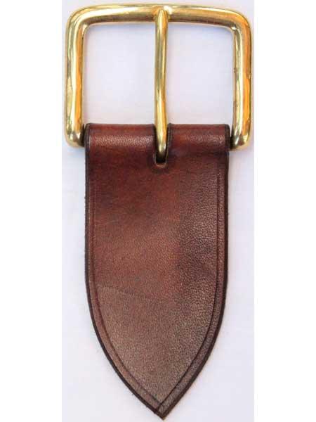 "Brass West End Short Buckle for 2"" inch handmade leather belt"
