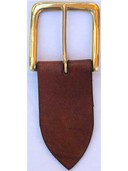 "Brass West End Standard Buckle for 2"" inch handmade leather belt"