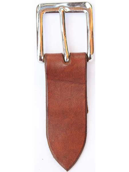 """Nickel Square Buckle for 1¼"""" inch handmade leather belt"""