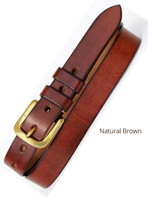 "1"" Classic Handmade Leather Belt"