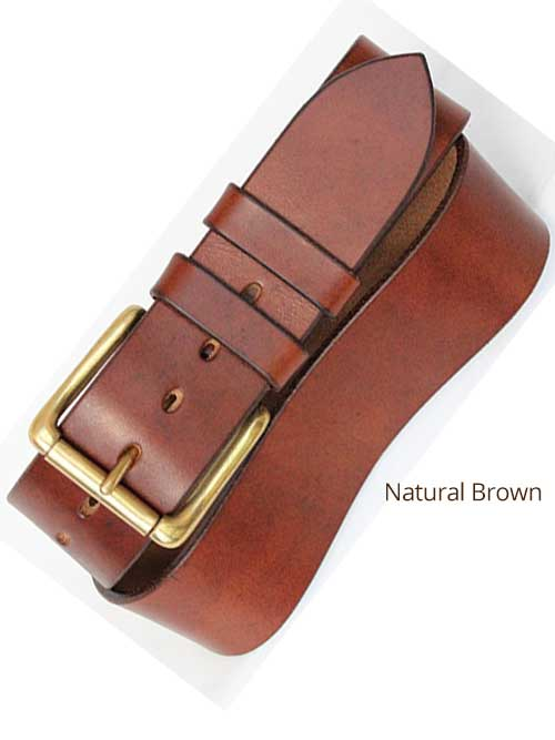 "2"" Classic Handmade Leather Belt"