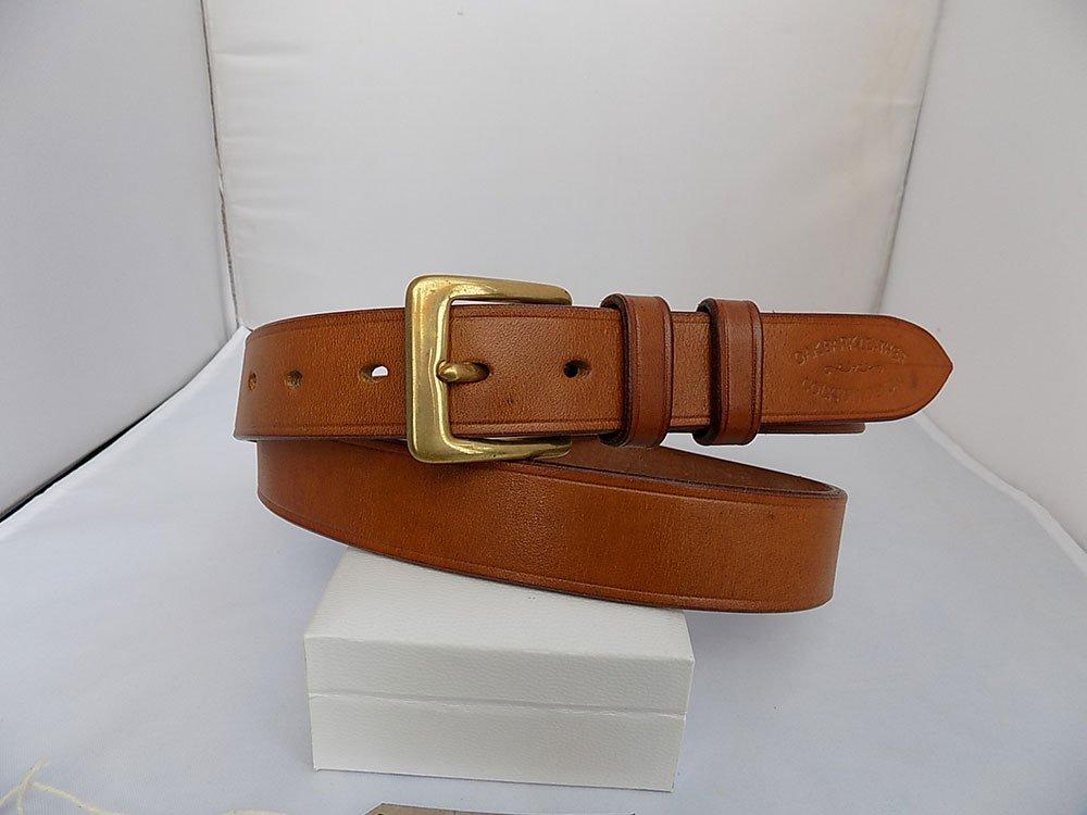"40"" Bridle, Light Oak, 1 ¼"" wide, Brass square buckle"