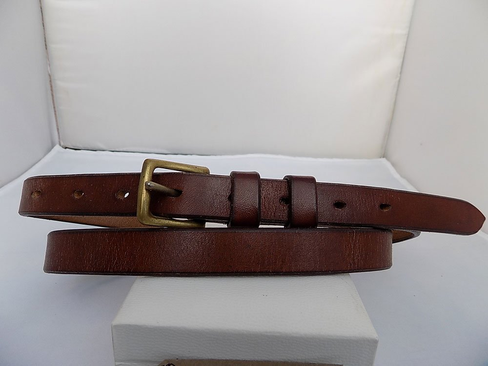 """35"""" – 37"""" with 9 holes, Classic, Natural Brown, ¾"""" wide, Brass West End buckle"""