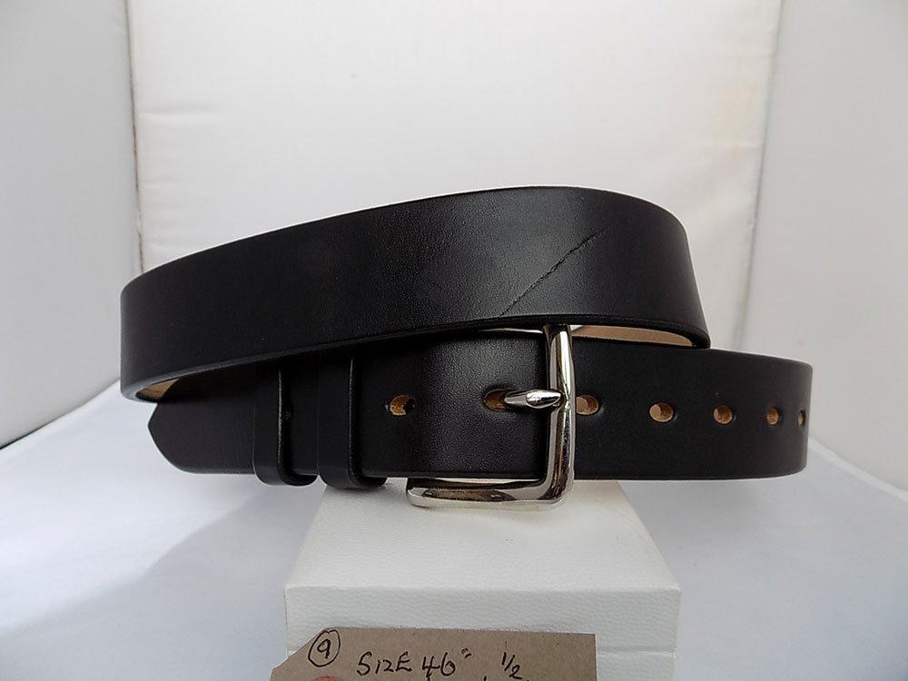 "46"" Classic, Black, 1 ½"" wide, Nickle West End buckle"