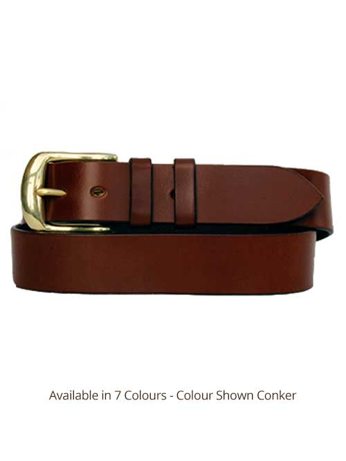 Sedgwicks Leather Belt Handmade - Light Conker