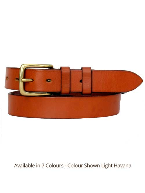 Sedgwicks Leather Belt Handmade - Light Havana